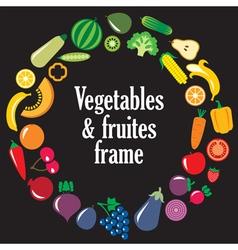 Fruits Vegetables frame vector image vector image