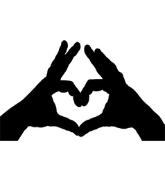 heart shape from hands gesture vector image