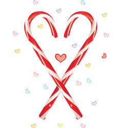 lovely candy cane vector image