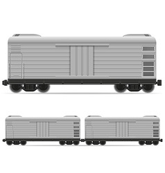 railway carriage 09 vector image vector image