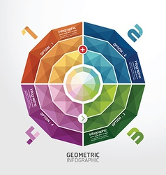 Geometric colorful Modern Design button vector image vector image