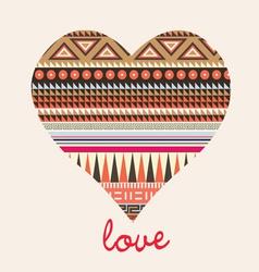 ornamental heart valentine card vector image