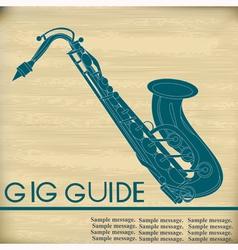 Retro Saxophone vector image
