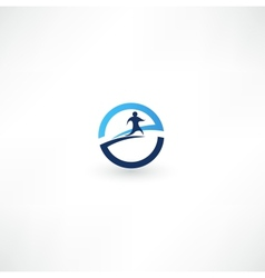 Running man icon vector