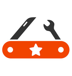 universal multitool knife flat icon vector image vector image