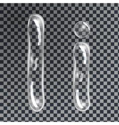 Bubbles letters I vector image