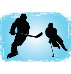 hockey players on the ice vector image vector image
