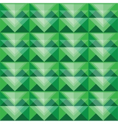 Seamless green triangle pattern design vector