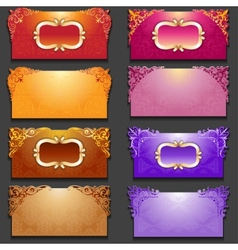 Set of royal invitation cards with frame vector image vector image