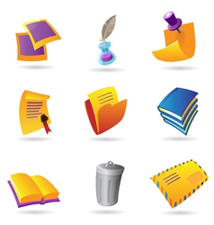Icons for stationery vector image vector image