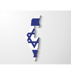 Israel map with shadow effect presentation vector image