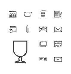 13 paper icons vector