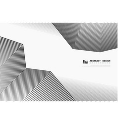 abstract black line decoration on white vector image