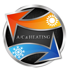 Air conditioning and heating arrows sun and vector