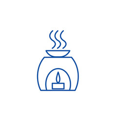 aromatherapy spa treatment line icon concept vector image