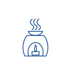 Aromatherapy spa treatment line icon concept vector