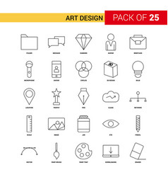 art and design black line icon - 25 business vector image