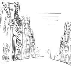Background the city of sketch art vector image