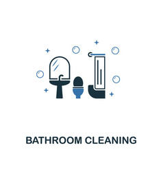 bathroom cleaning icon creative two colors design vector image