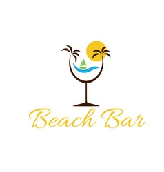 beach bar vector image