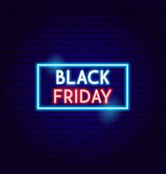 Black friday sale neon sign vector