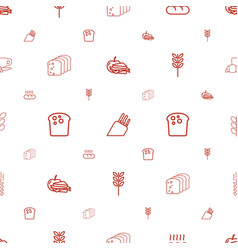 bread icons pattern seamless white background vector image