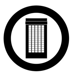 building icon black color in circle vector image