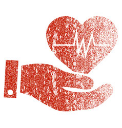 Cardiology grunge texture icon vector