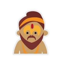 Cartoon man icon Indian Culture design vector image