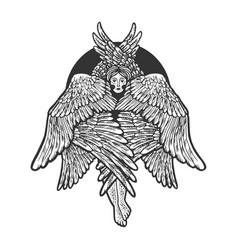 cherub sketch vector image