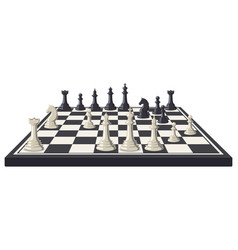 Chess board logical intellectual game chessboard vector
