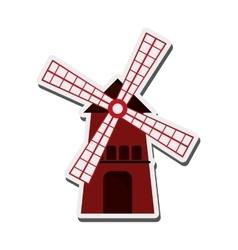 Classic windmill icon vector