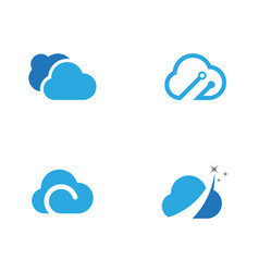 cloud template vector image