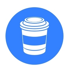 Coffee icon in black style for web vector