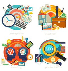 consulting management investment and strategy vector image