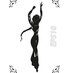 Dance of adorable fairy in ancient timesEPS10 vector