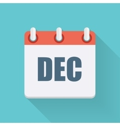 December Dates Flat Icon with Long Shadow vector