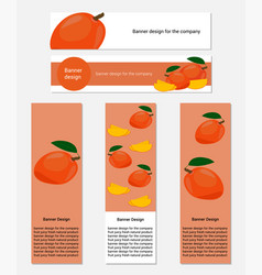 Design of banners with yummy mango vector
