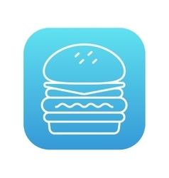 Double burger line icon vector image
