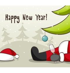Drunk Santa Claus vector