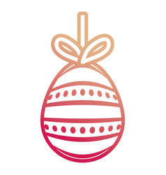easter egg pendant with dots and lines d vector image