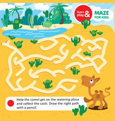 educational task for children learn and play maze vector image