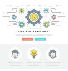 Flat line Strategic Management Business Concept vector