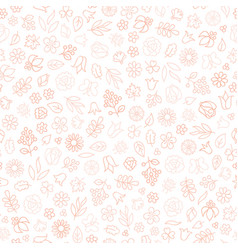 Flower icon seamless pattern floral leaves and vector
