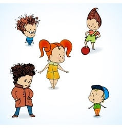 group children vector image