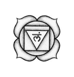 Hand drawn chakra muladhara vector