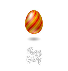 happy easter card egg helix pattern vector image