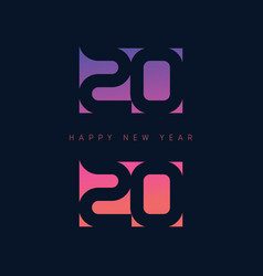 happy new year 2020 brochure or calendar cover vector image