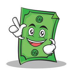 Have an idea dollar character cartoon style vector