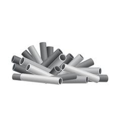 Heap building material heap pipes tube vector